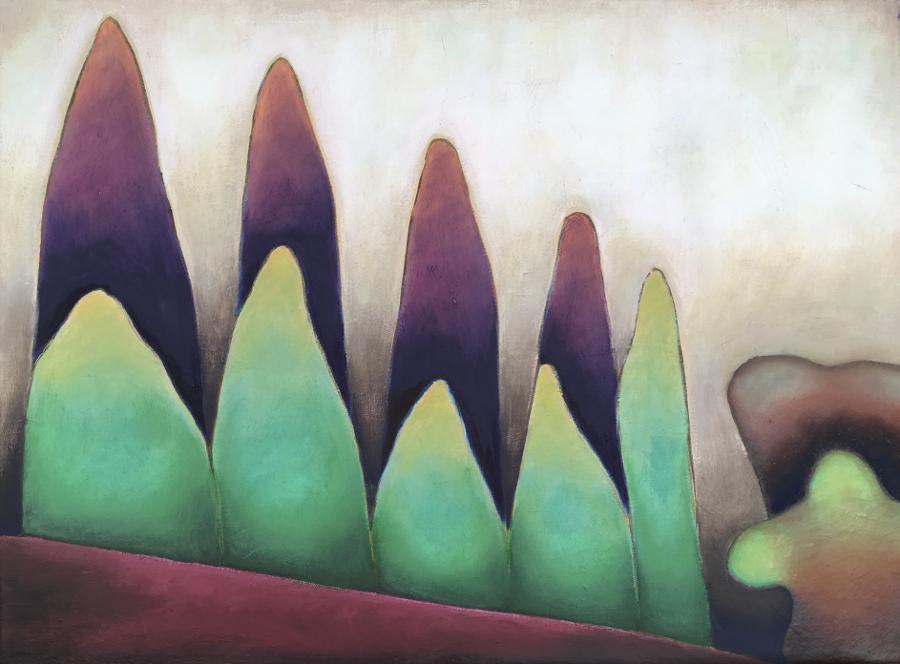 Seasons from a Manhattan Window 3 (Oil on linen 18x24) 2019