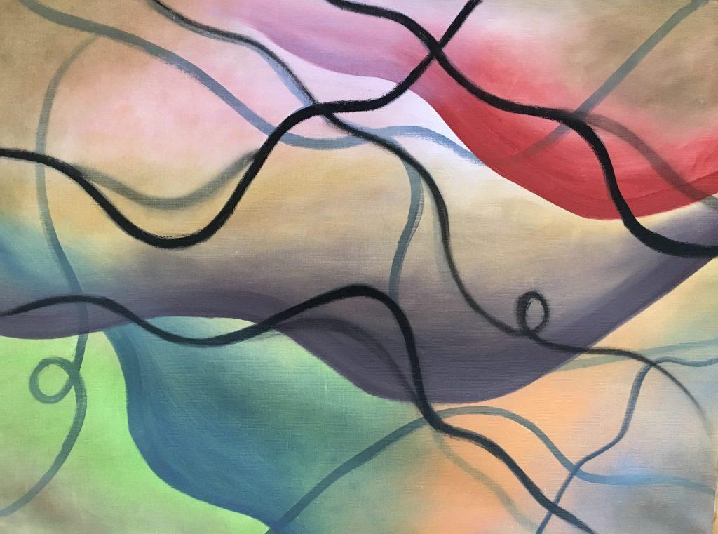 Whimsy of Life 1 (Oil on linen 18 x 24) 2020