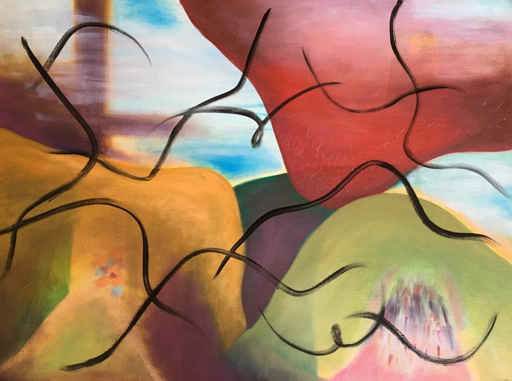 Whimsy of Life 3 (Oil on linen 18 x 24) 2020